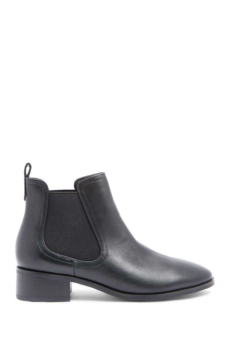 Forever21Women's Faux Leather Chelsea Boots - Black UK - GOOFASH