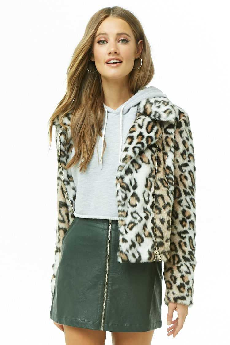 Forever21Women's Faux Leather Zip-Front Mini Skirt - Olive UK - GOOFASH