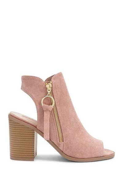 Forever21Women's Faux Suede Ankle Boots - Blush UK - GOOFASH
