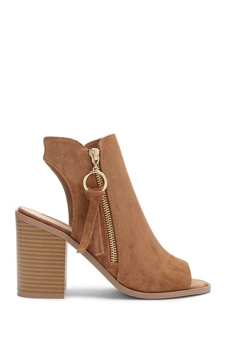 Forever21Women's Faux Suede Ankle Boots - Tan UK - GOOFASH