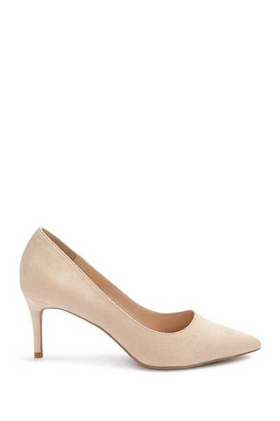 Forever21Women's Faux Suede Pumps - Taupe UK - GOOFASH
