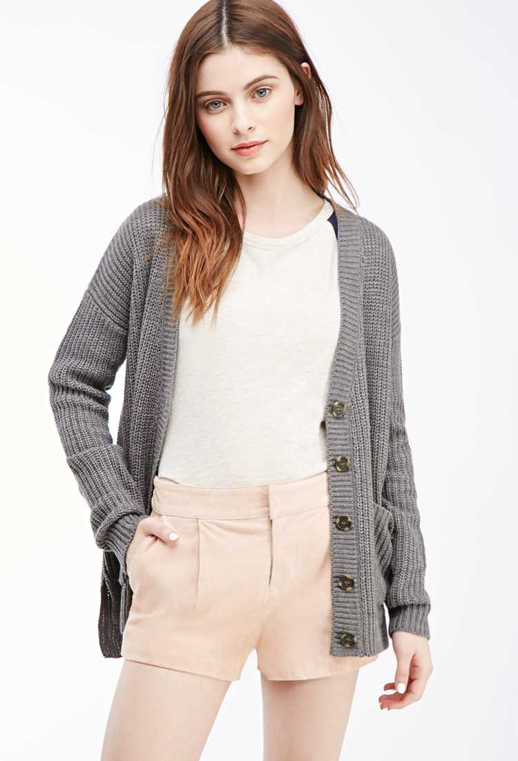 Forever21Women's Genuine Suede Shorts - Dusty Pink UK - GOOFASH