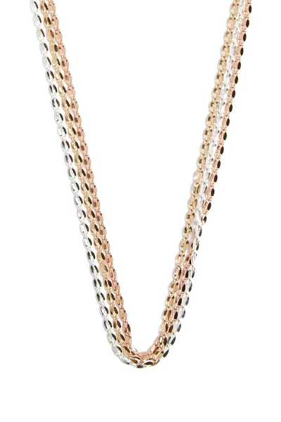 Forever21Women's Hammered Layered Necklace - Gold/Silver UK - GOOFASH