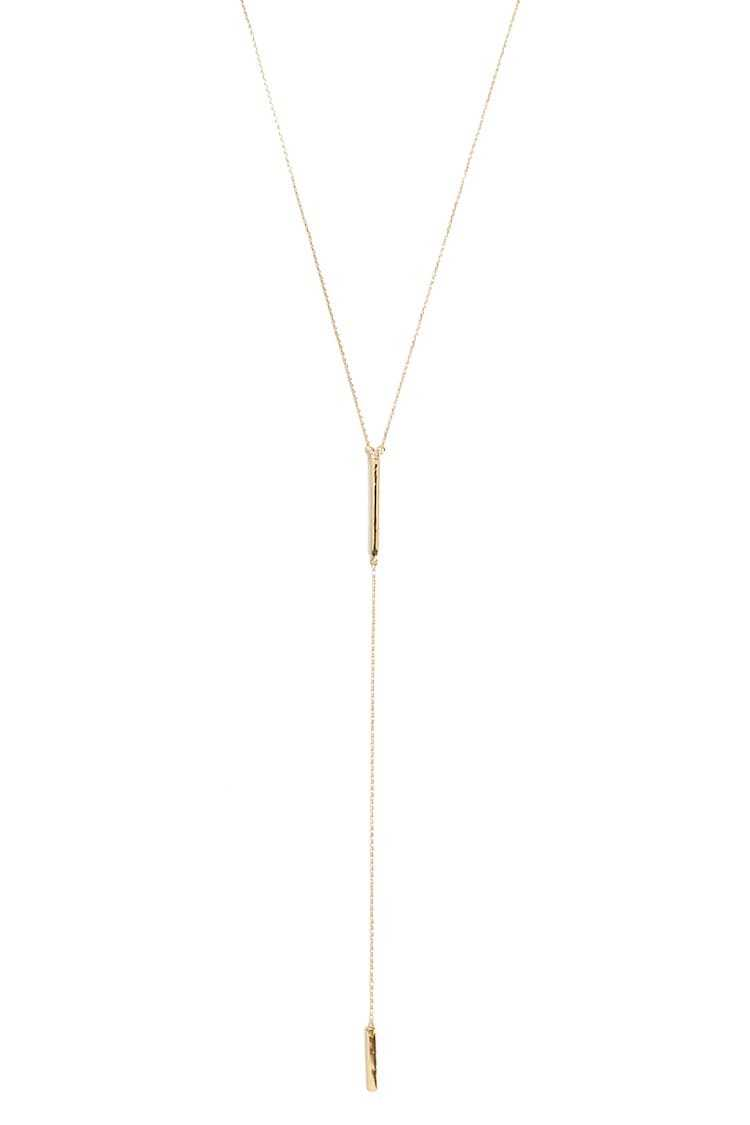 Forever21Women's Matchstick Pendant Necklace - Gold UK - GOOFASH