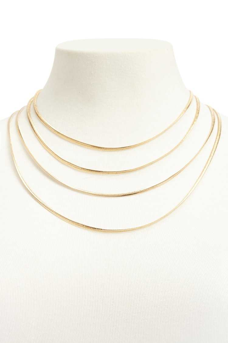 Forever21Women's Serpentine Layered Necklace - Gold UK - GOOFASH