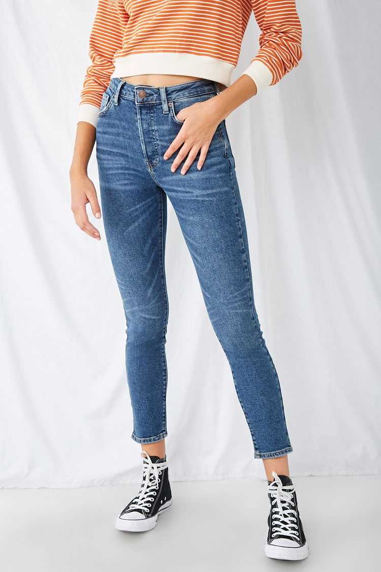 Forever21Women's The Westwood Button-Fly Mom Jeans - Denim UK - GOOFASH