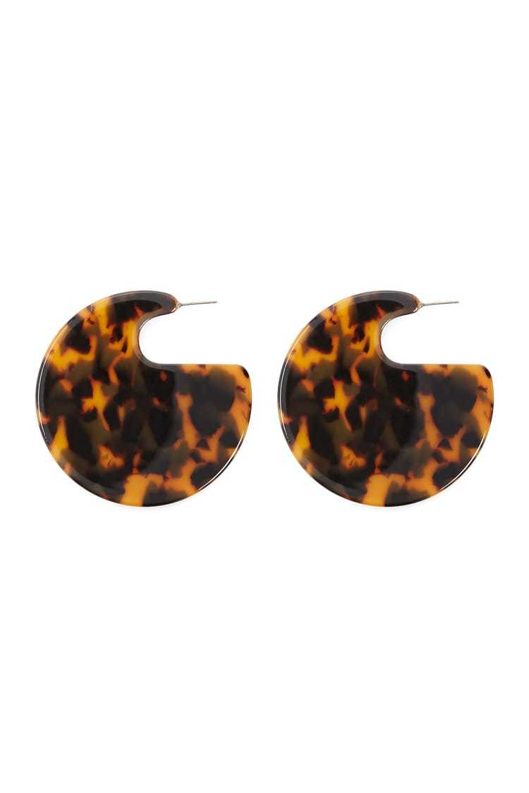 Forever21Women's Tortoiseshell Disc Drop Earrings - Brown UK - GOOFASH