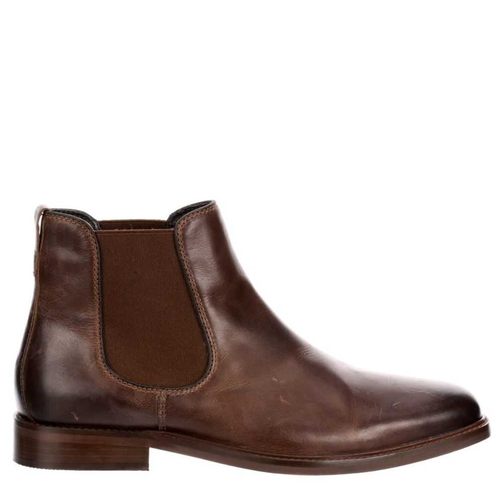 Franco Fortini Mens Pelle Dress Boots Brown USA - GOOFASH - Mens BOOTS