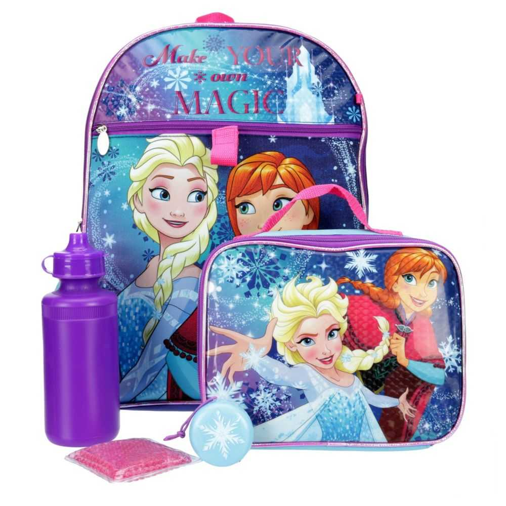 Frozen Girls Backpack Multicolor USA - GOOFASH - Womens WALLETS