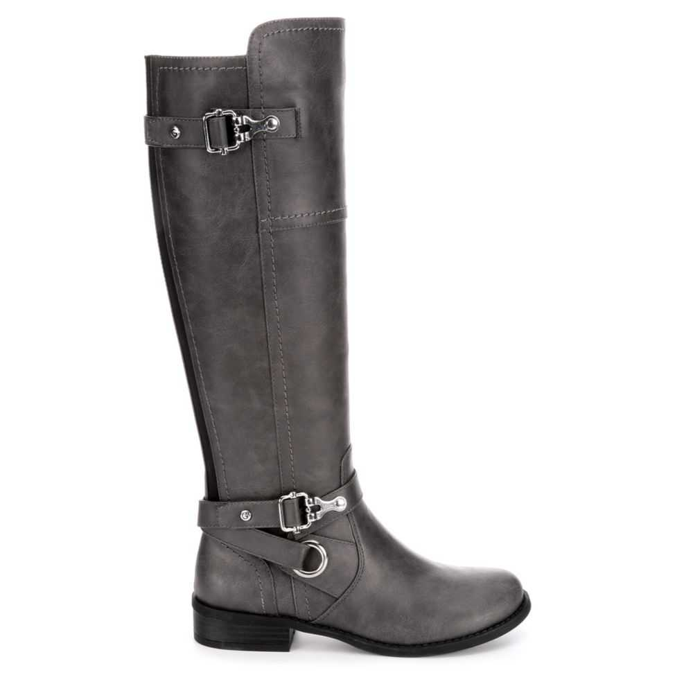 G By Guess Womens Ggharvest Riding Boots Grey USA - GOOFASH - Womens BOOTS