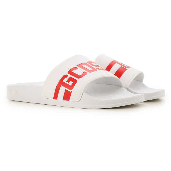 GCDS Sandals for Men White - GOOFASH