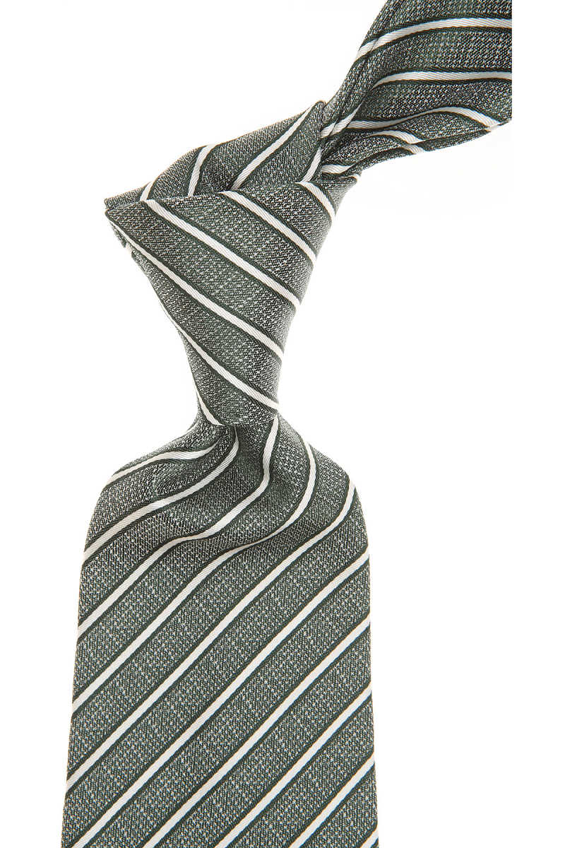 Giorgio Armani Ties On Sale Melange Forest Green UK - GOOFASH