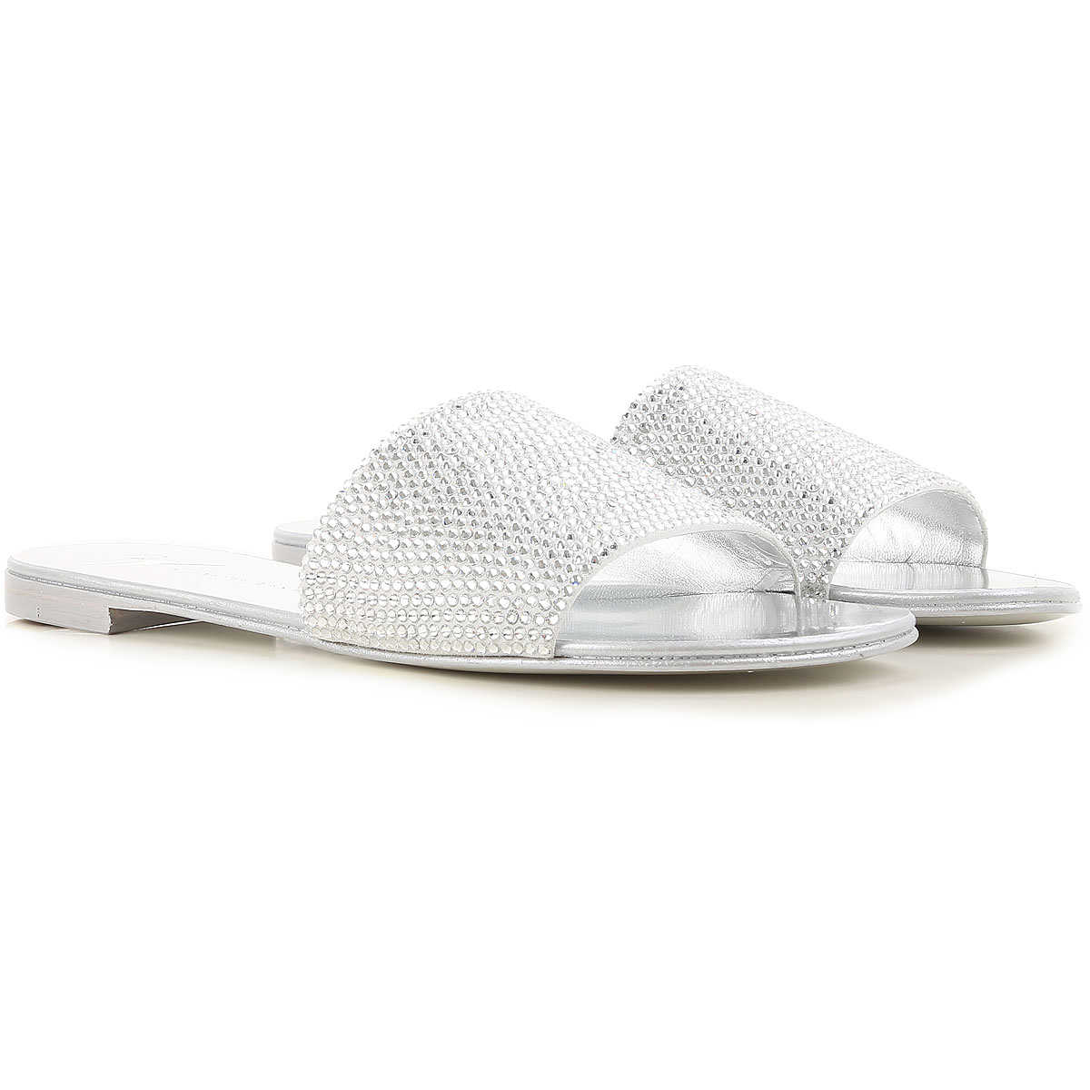 Giuseppe Zanotti Design Sandals for Women On Sale in Outlet Silver - GOOFASH
