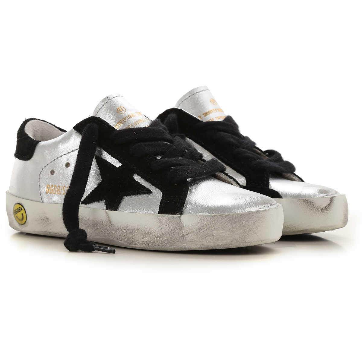 Golden Goose Kids Shoes for Girls Silver USA - GOOFASH