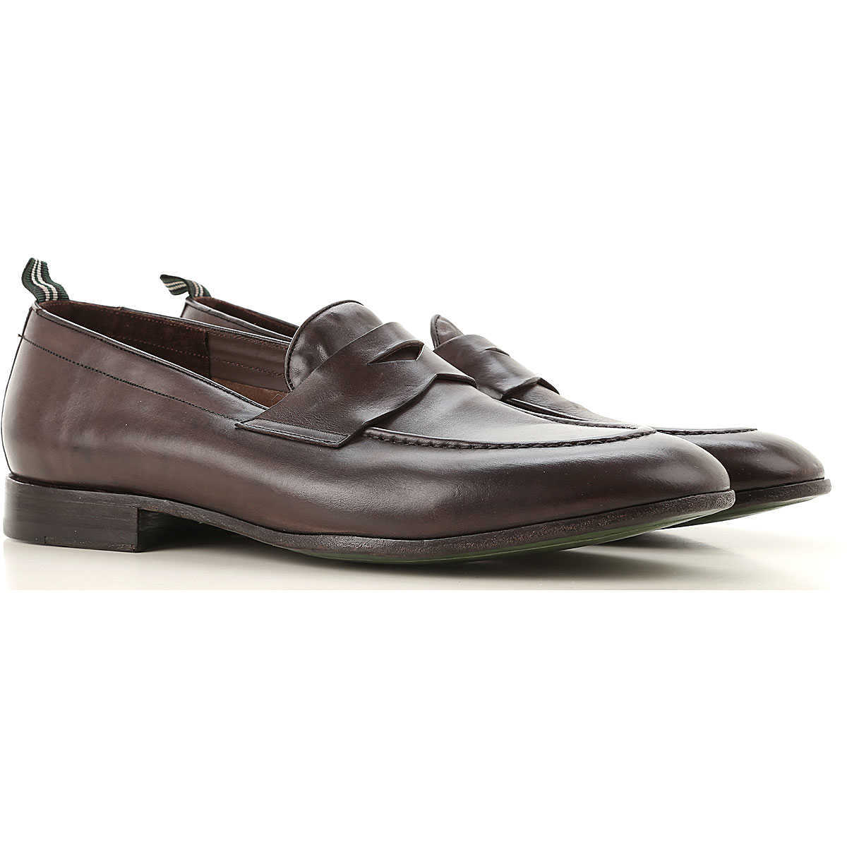 Green George Loafers for Men On Sale Brown - GOOFASH