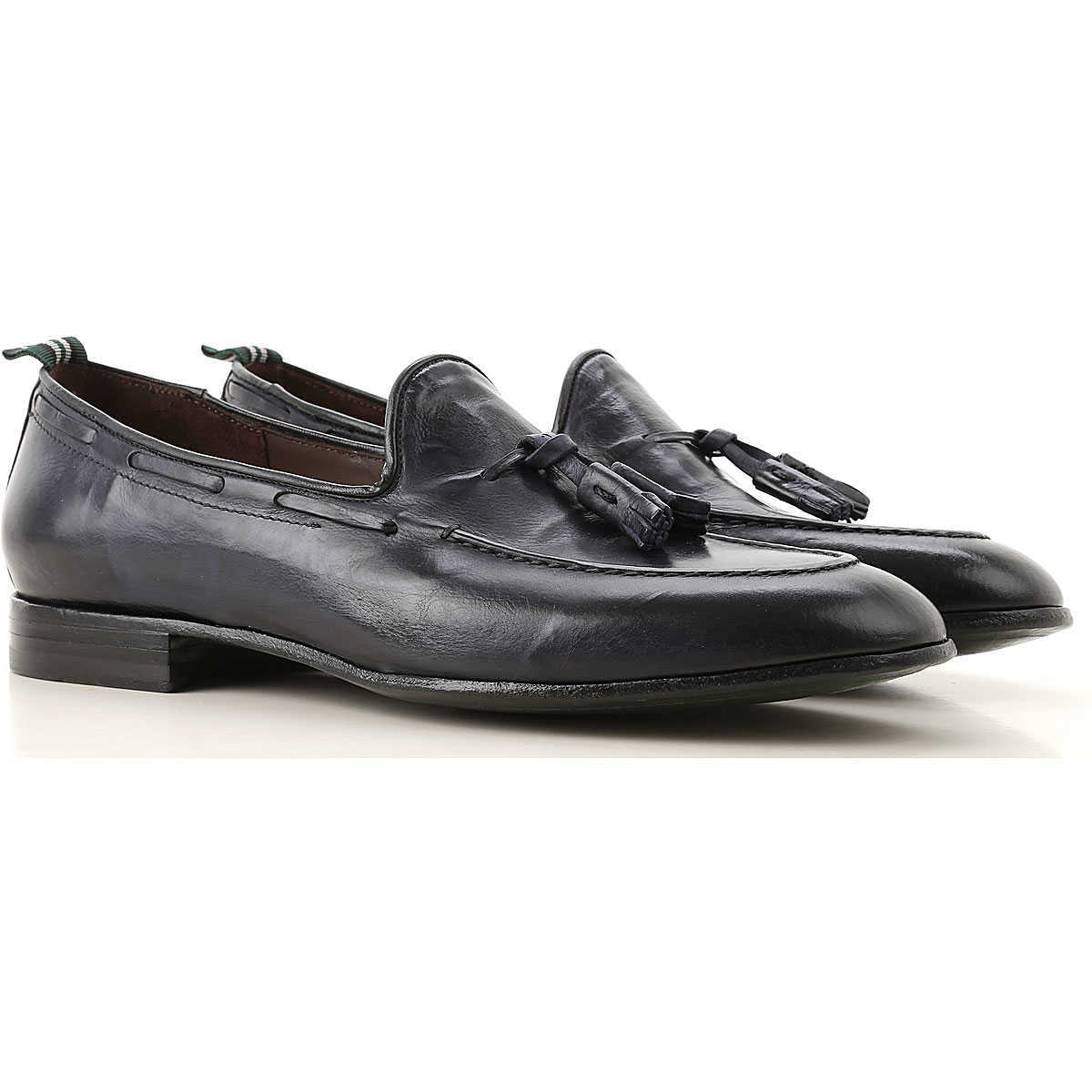 Green George Loafers for Men On Sale Dark Navy Blue - GOOFASH