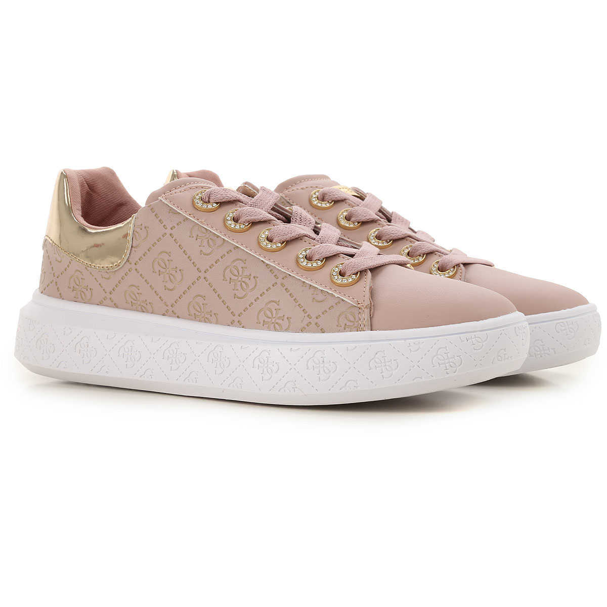 Guess Sneakers for Women On Sale Pink - GOOFASH