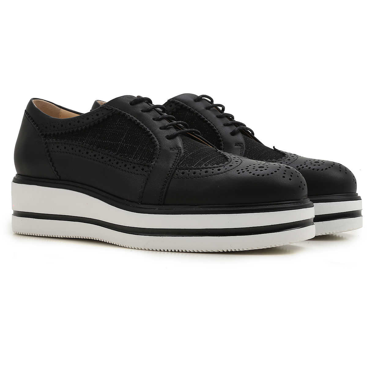 Hogan Brogues Oxford Shoes On Sale in Outlet Black UK - GOOFASH