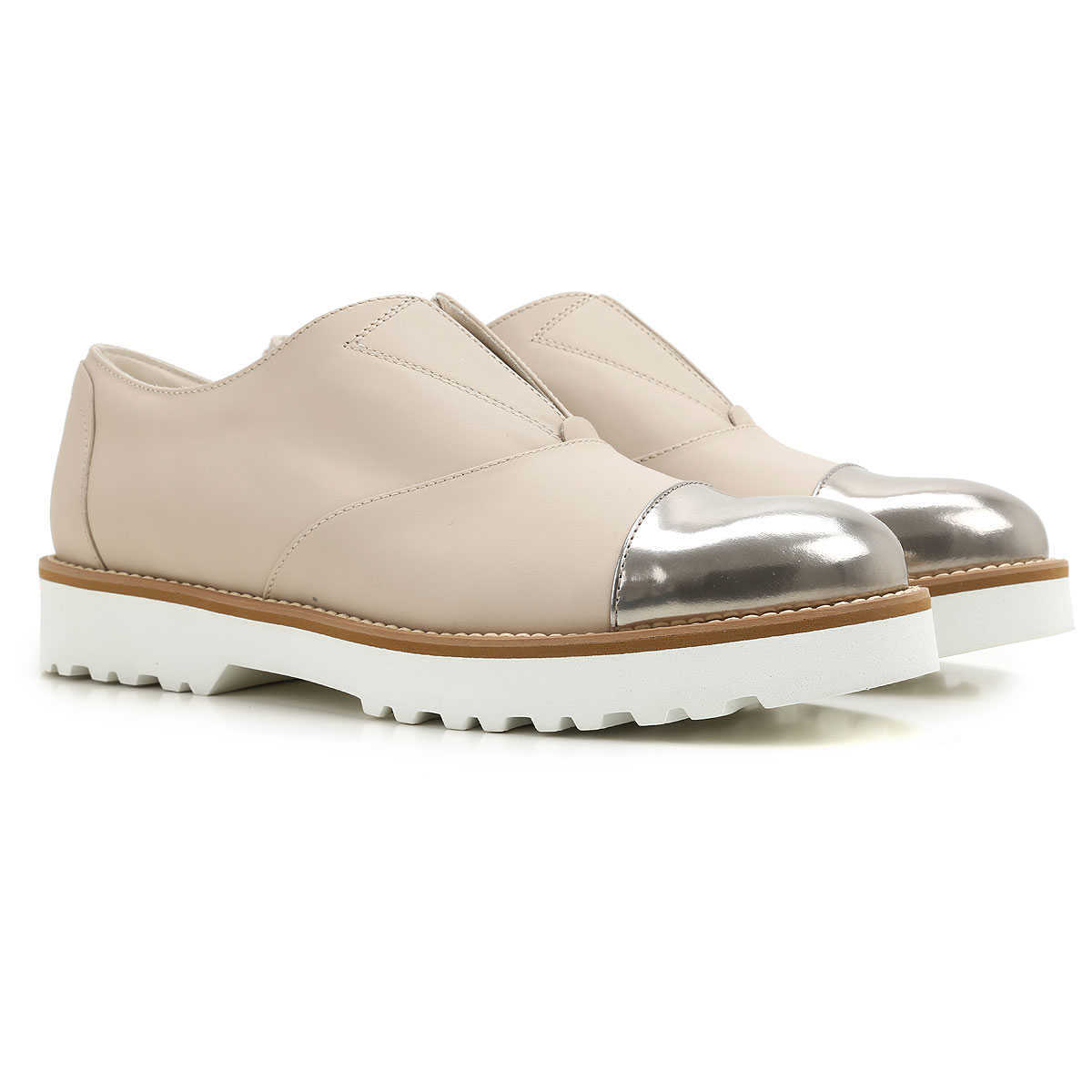 Hogan Loafers for Women On Sale in Outlet Beige - GOOFASH
