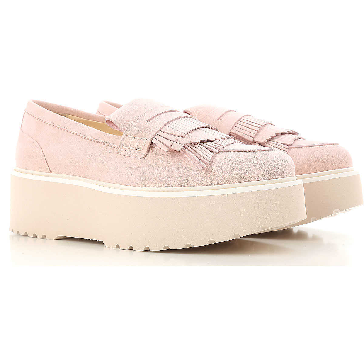 Hogan Loafers for Women Pink - GOOFASH