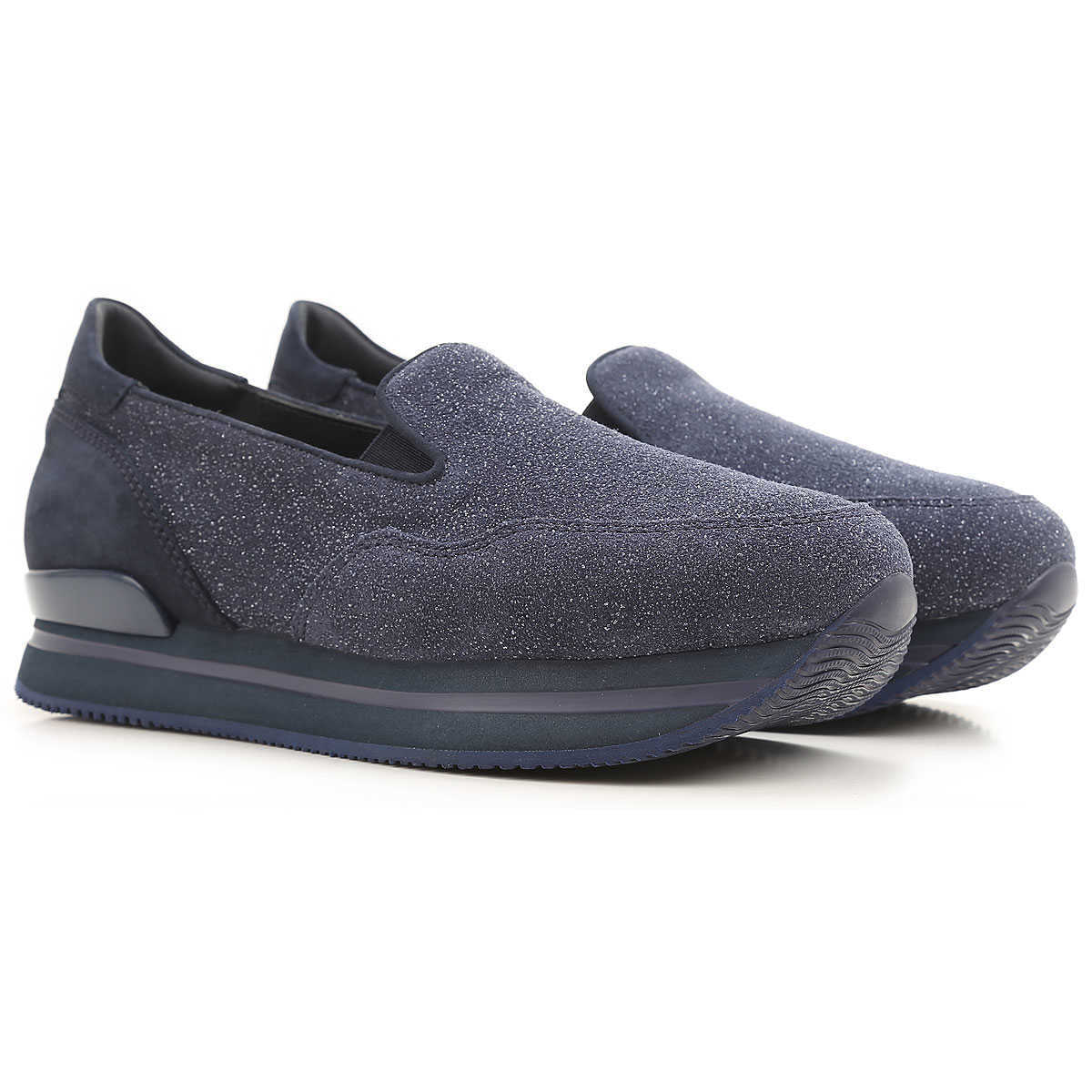 Hogan Slip on Sneakers for Women On Sale in Outlet Midnight Blue UK - GOOFASH