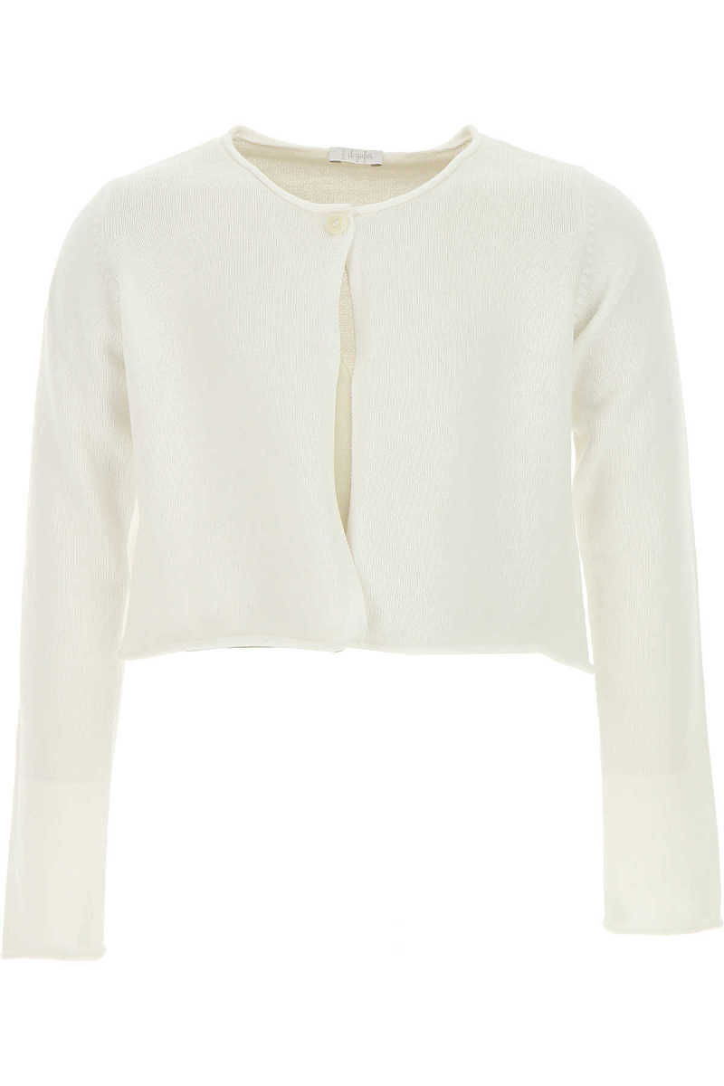 Il Gufo Kids Sweaters for Girls in Outlet White USA - GOOFASH