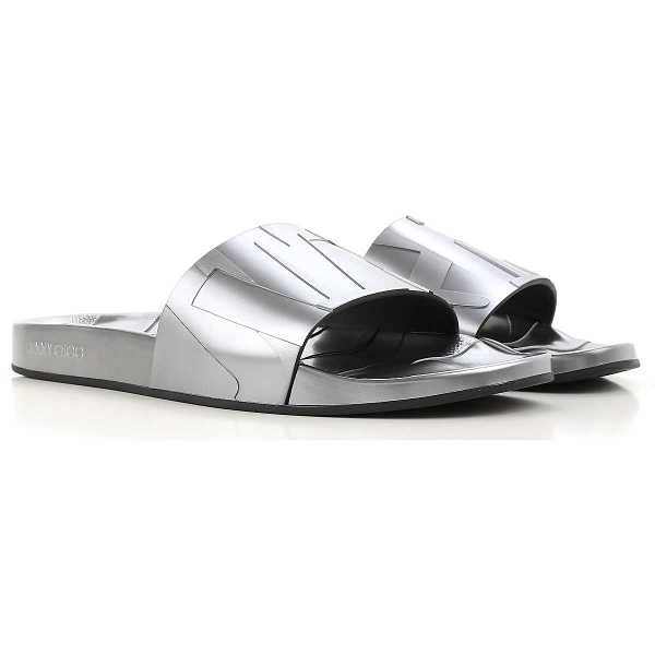 Jimmy Choo Sandals for Men On Sale in Outlet Gunmetal UK - GOOFASH