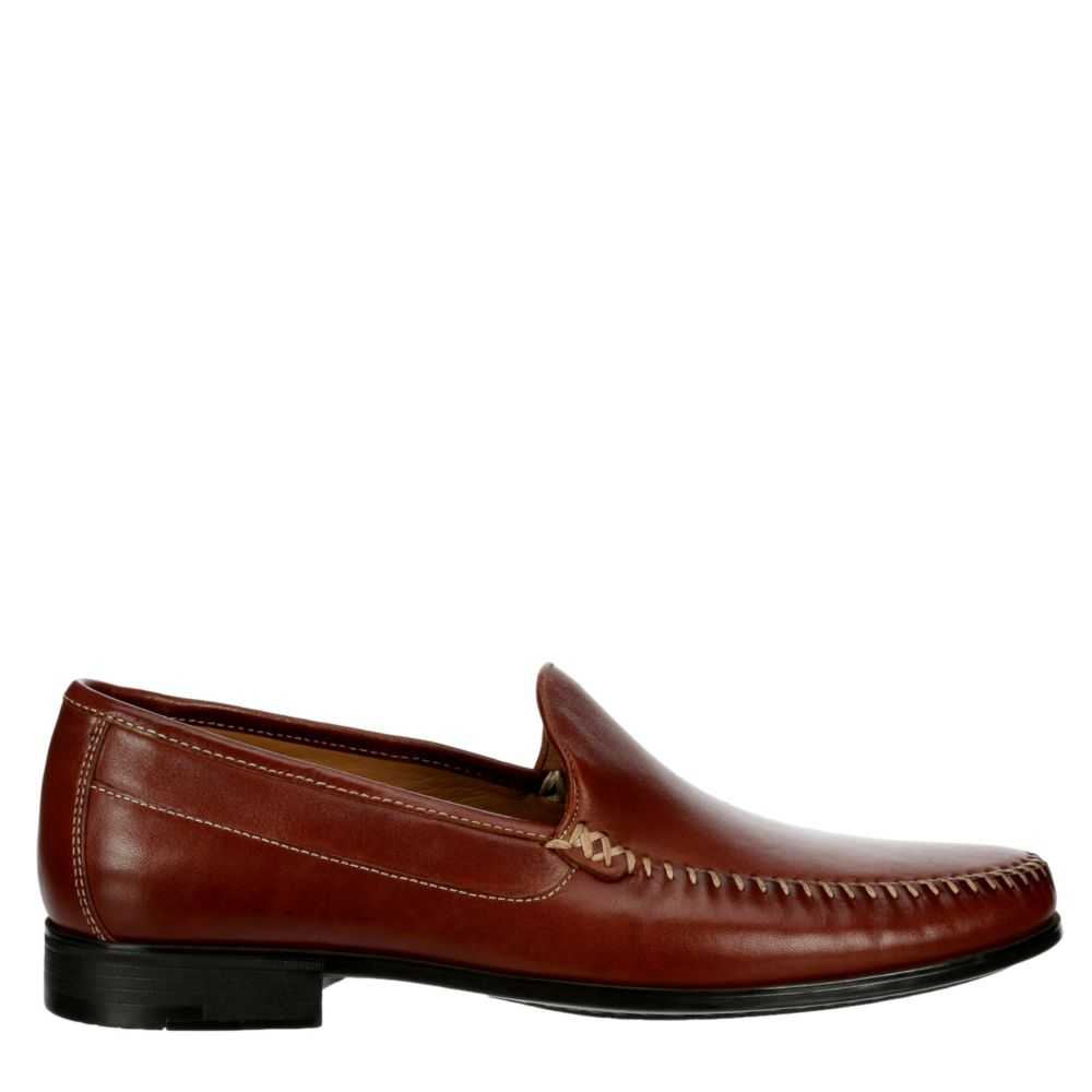 Johnston & Murphy Mens Creswell Whipstitch Venetian Loafers Cognac USA - GOOFASH - Mens LOAFERS