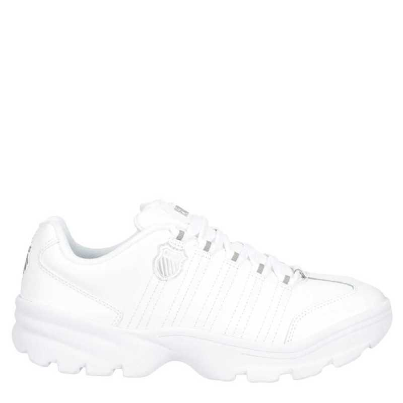 K-Swiss Mens Altezo Shoes Sneakers White USA - GOOFASH - Mens SNEAKER