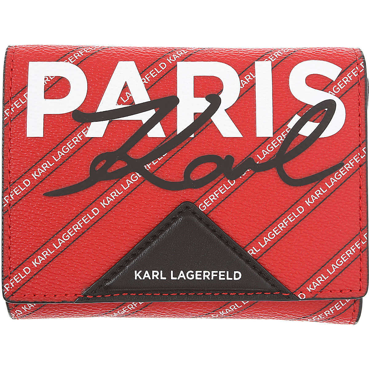 Karl Lagerfeld Wallet for Women On Sale Ruby Red - GOOFASH