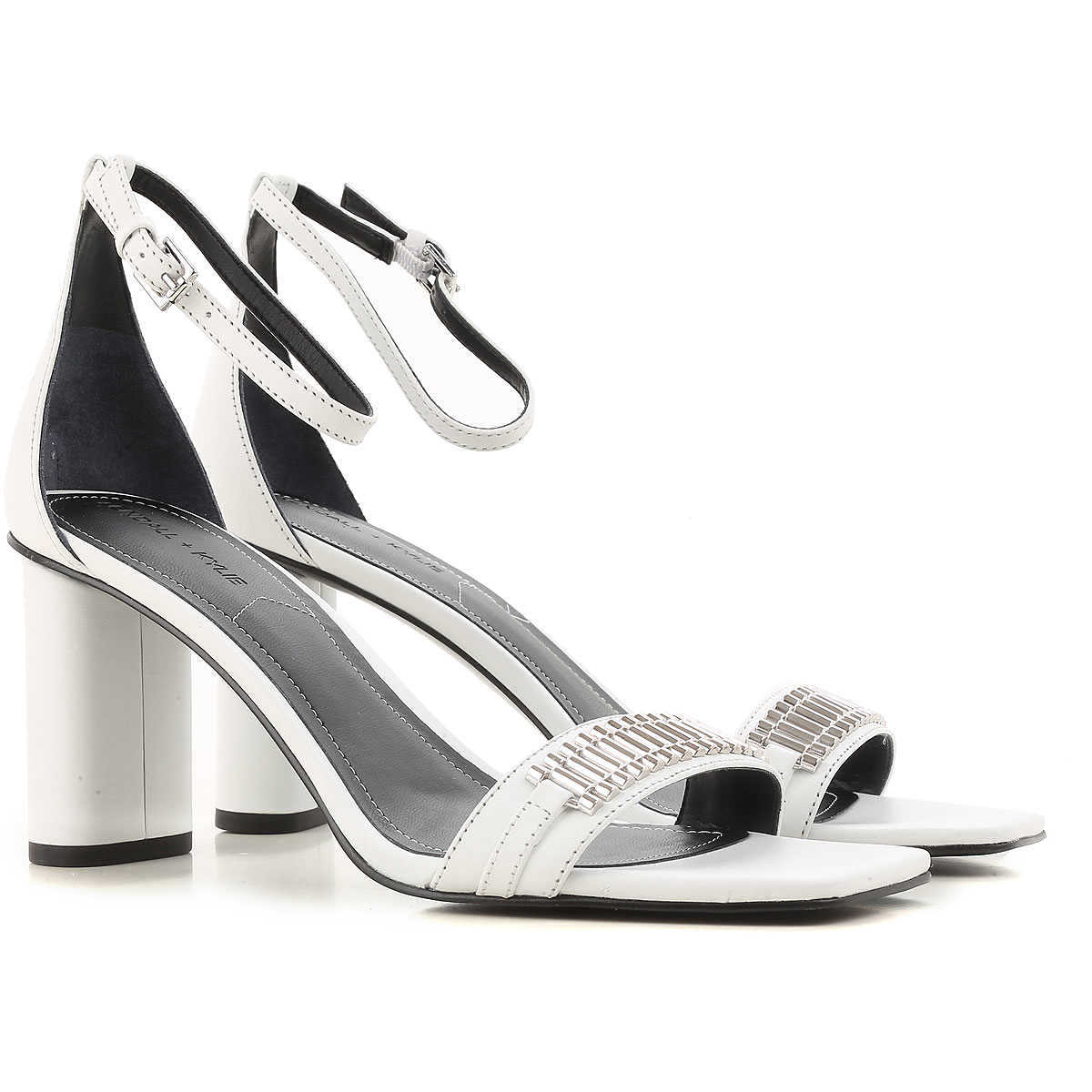 Kendall Kylie Sandals for Women On Sale in Outlet White - GOOFASH