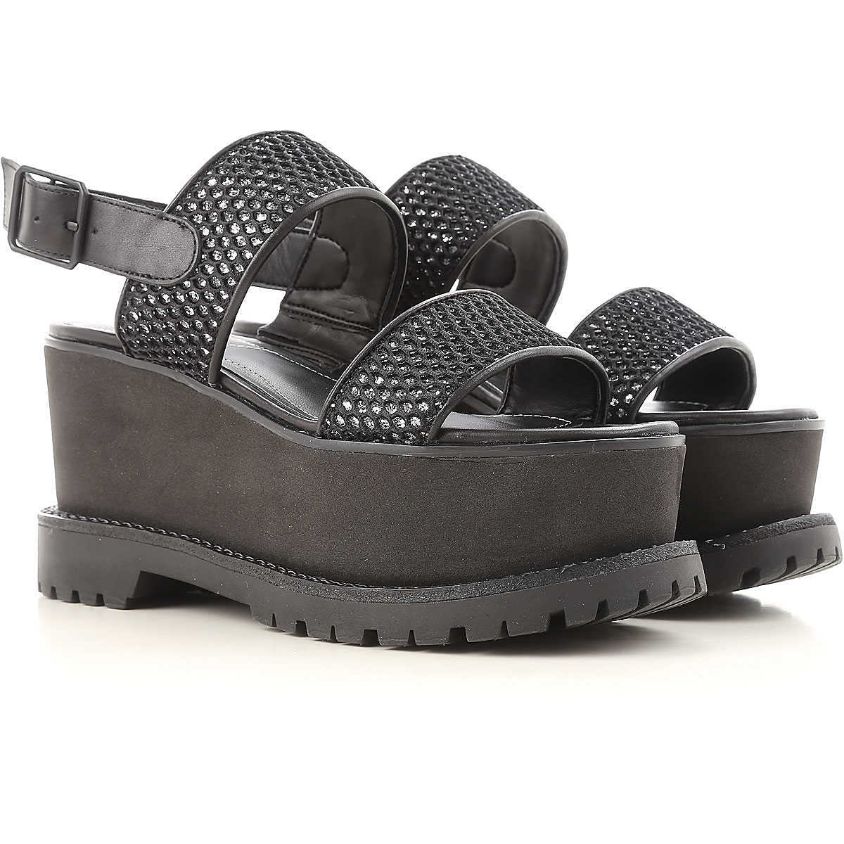 Kendall Kylie Wedges for Women On Sale in Outlet Black - GOOFASH