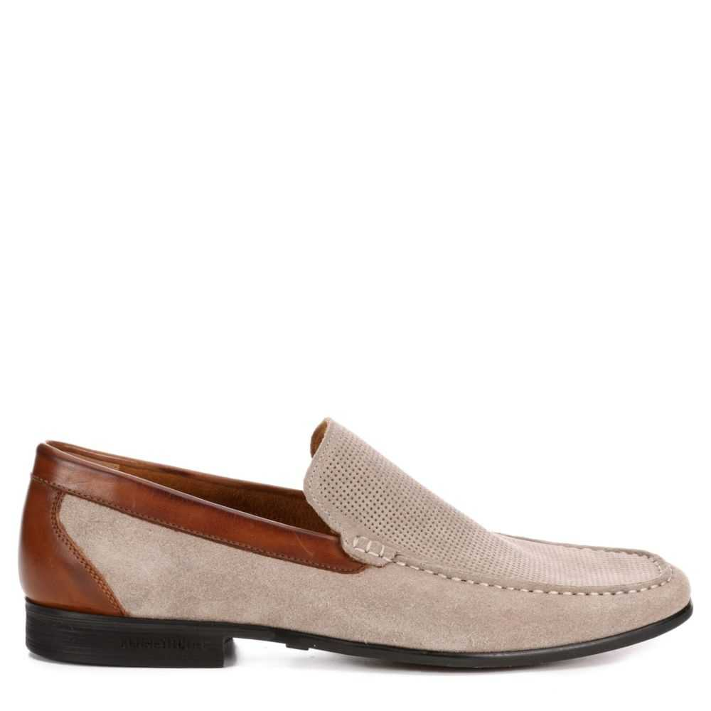 Kenneth Cole Mens Design 111502 Dress Casual Loafer Loafers Taupe USA - GOOFASH - Mens LOAFERS