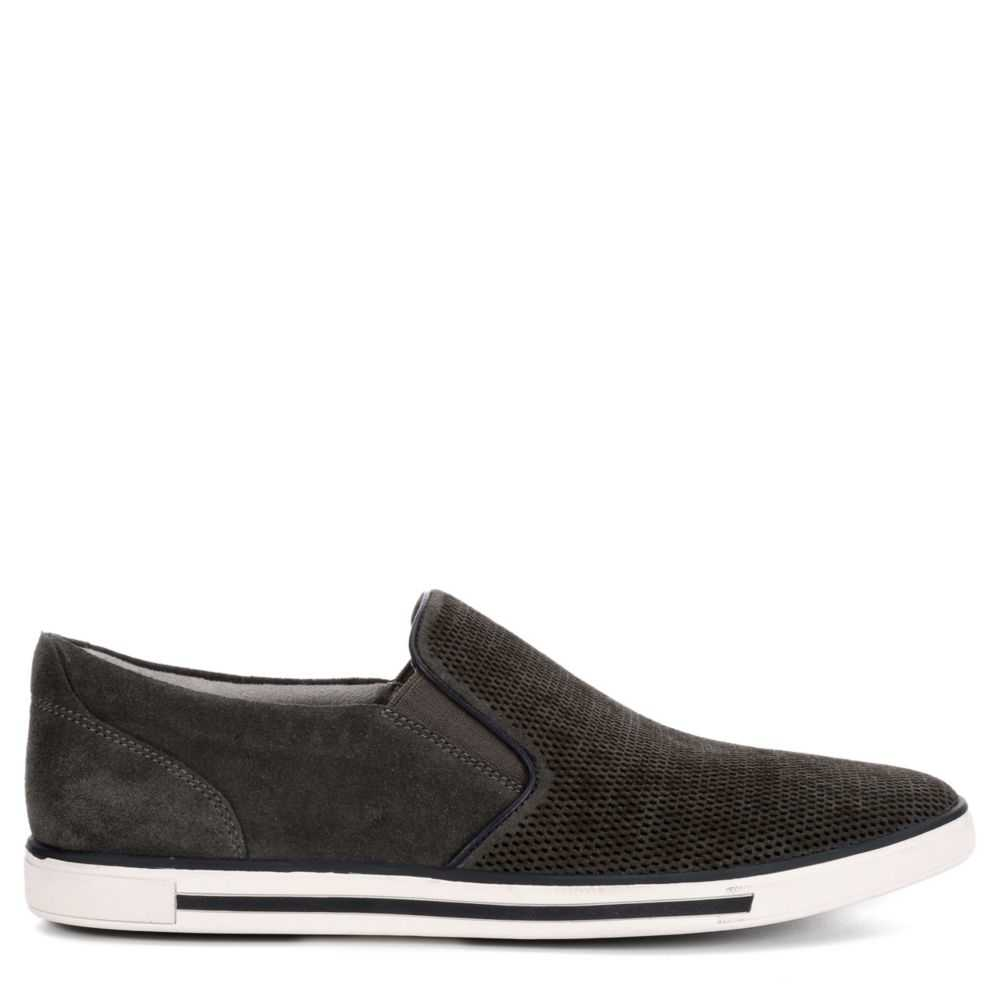 Kenneth Cole Mens Initial Slip-On Casual Shoes Sneakers Loafers Dark Grey USA - GOOFASH - Mens LOAFERS