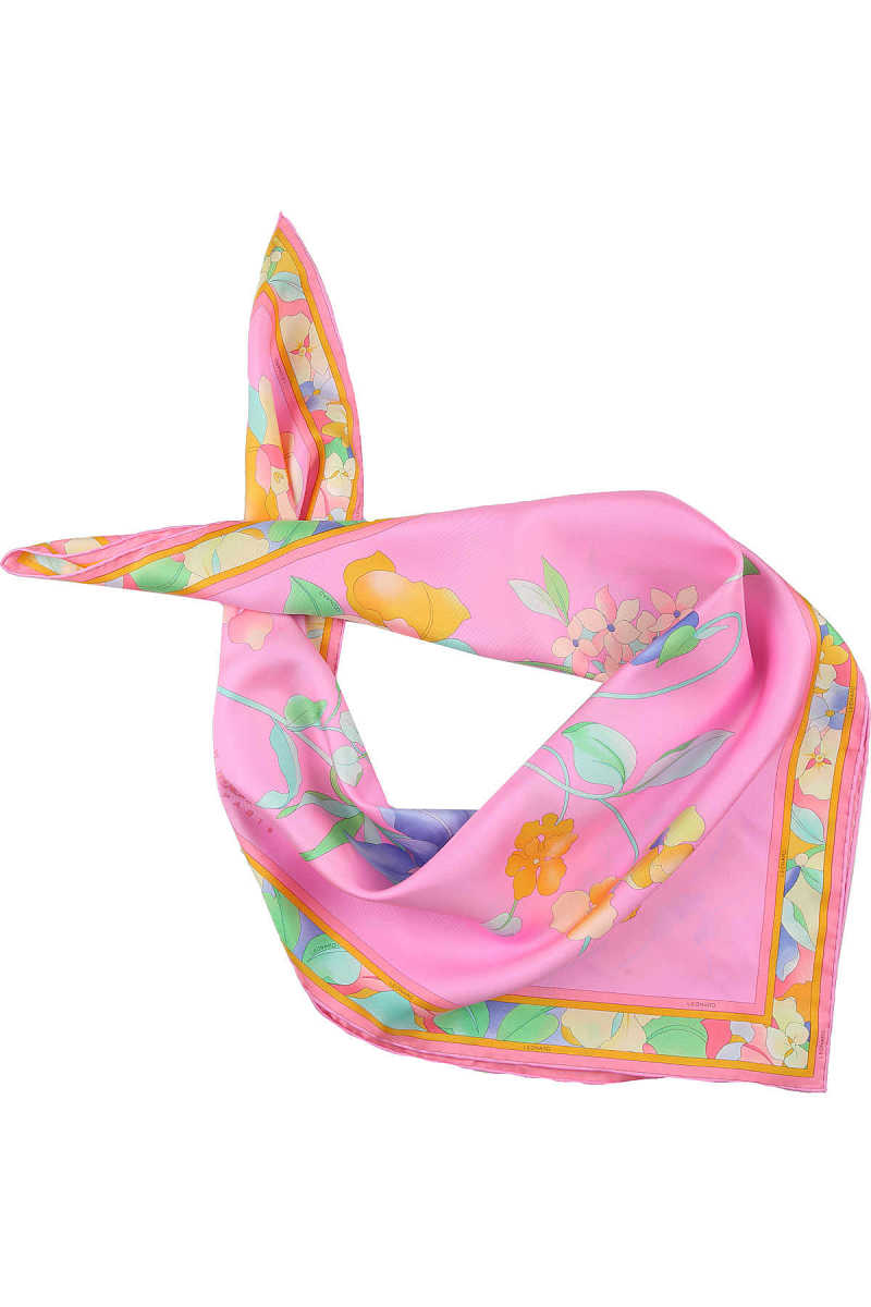 Leonard Scarf for Women On Sale Candy Pink - GOOFASH
