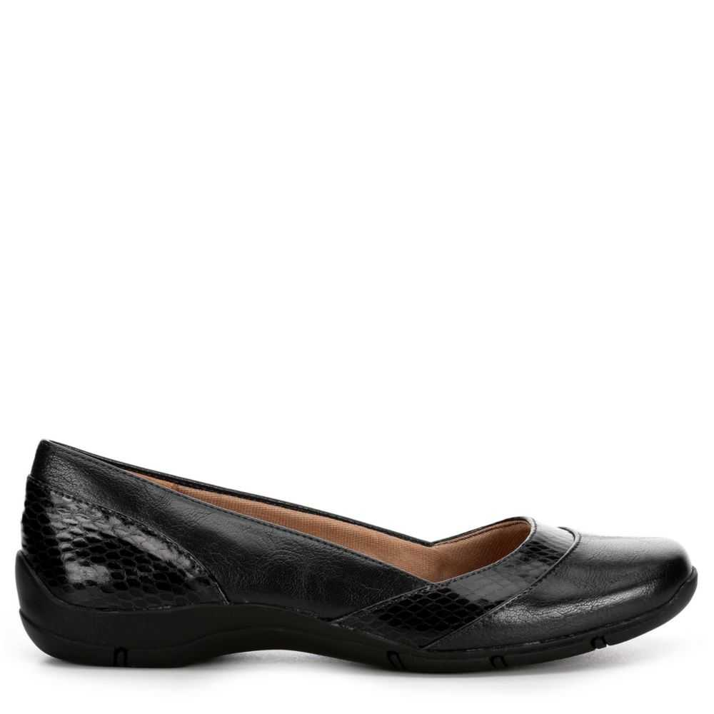Lifestride Womens De Javu Flats Shoes Black USA - GOOFASH - Womens FLAT SHOES