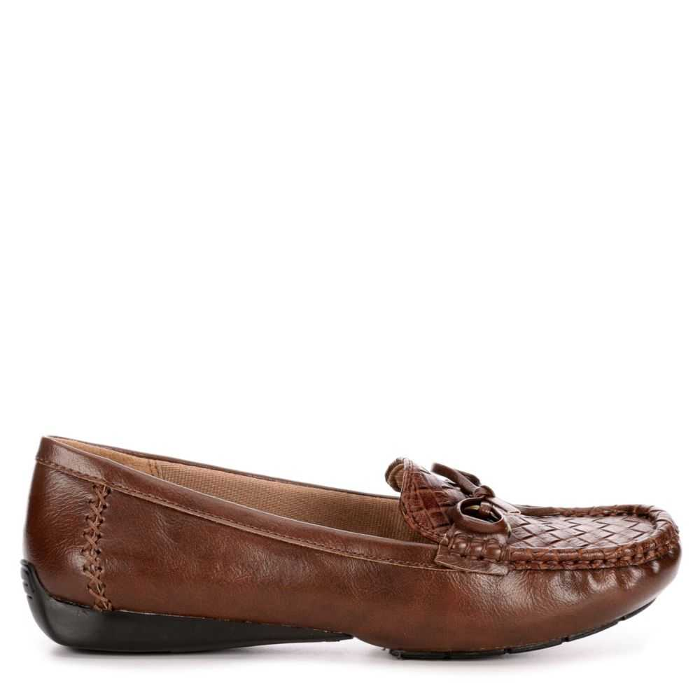 Lifestride Womens Vintage Loafers Tan USA - GOOFASH - Womens FLAT SHOES
