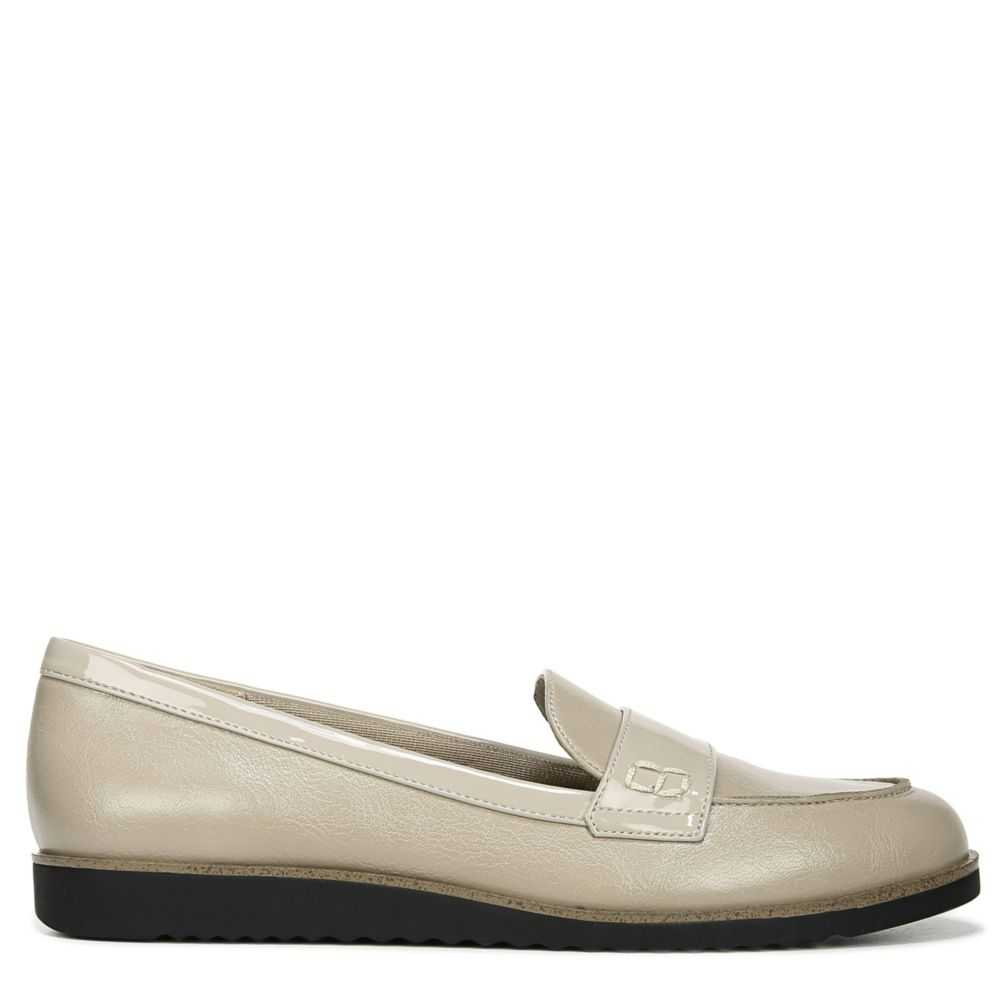Lifestride Womens Zee Loafers Taupe USA - GOOFASH - Womens FLAT SHOES