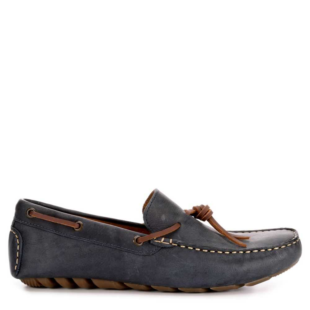 Lucky Brand Mens Wagner Casual Loafer Loafers Navy USA - GOOFASH - Mens LOAFERS