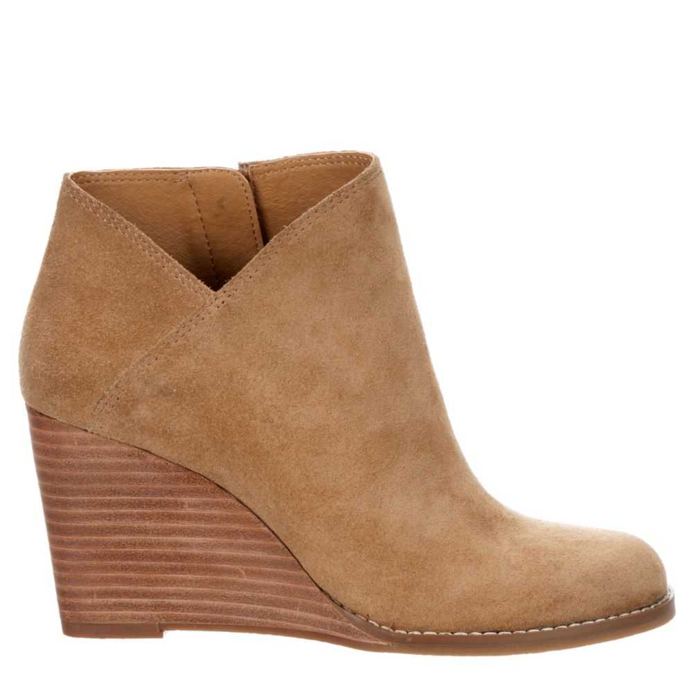 Lucky Brand Womens Yakeena Wedge B Tan USA - GOOFASH - Womens HOUSE SHOES