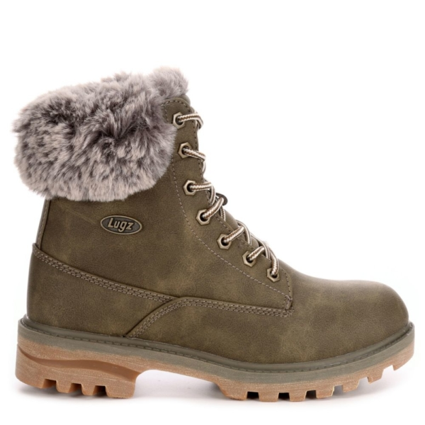 Lugz Womens Empire High-Top Fur Olive USA - GOOFASH - Womens TOPS
