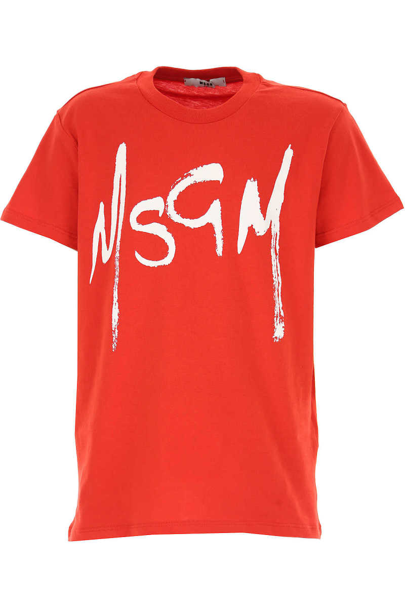 MSGM Kids T-Shirt for Girls On Sale Red SE - GOOFASH