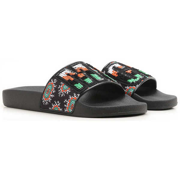 MSGM Sandals for Women On Sale in Outlet Black - GOOFASH