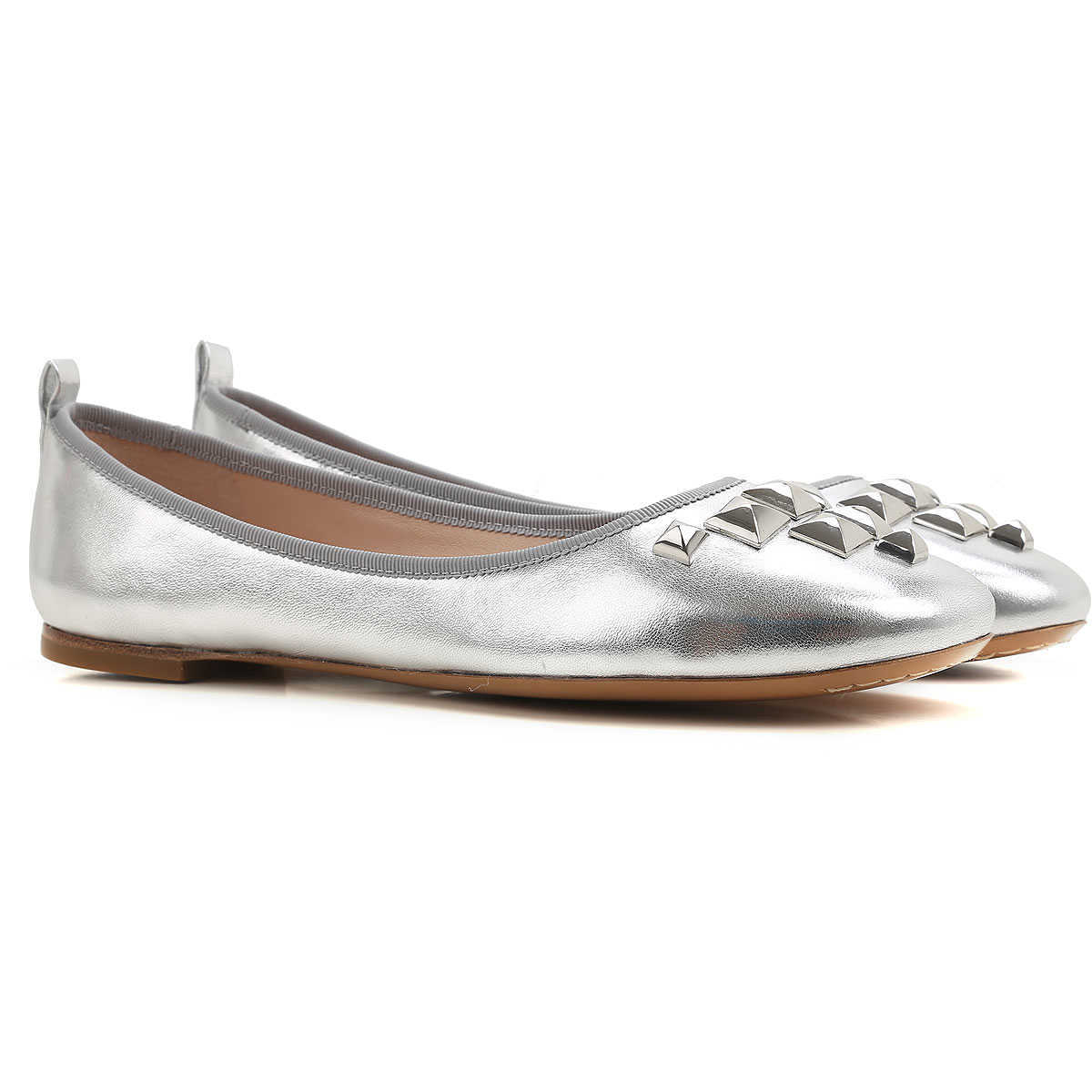 Marc Jacobs Ballet Flats Ballerina Shoes for Women On Sale Silver - GOOFASH