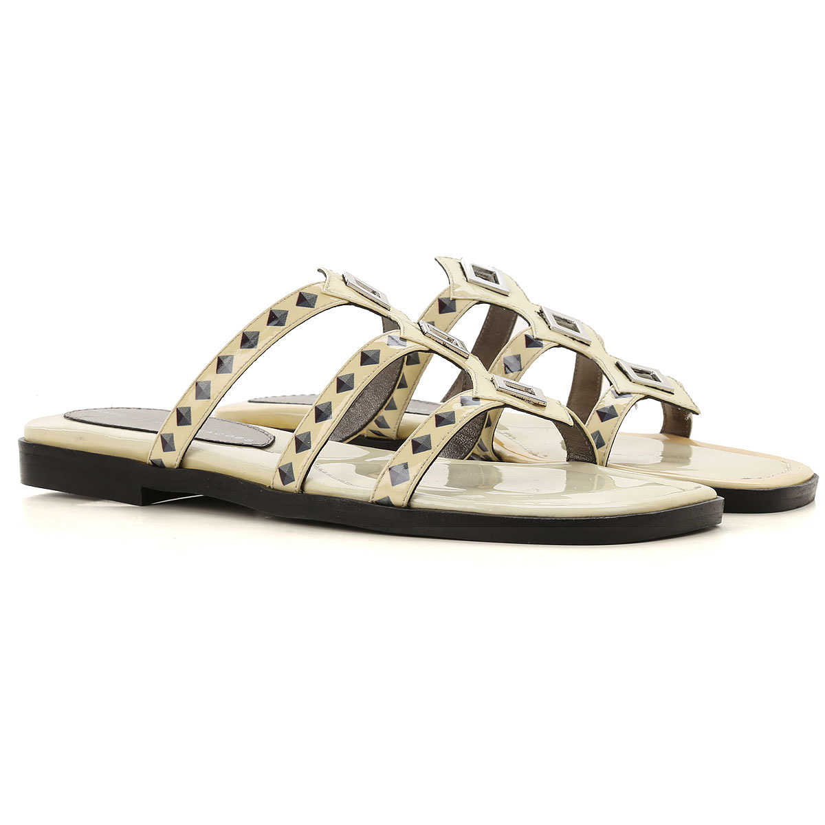 Marc Jacobs Sandals for Women On Sale in Outlet Ivory - GOOFASH