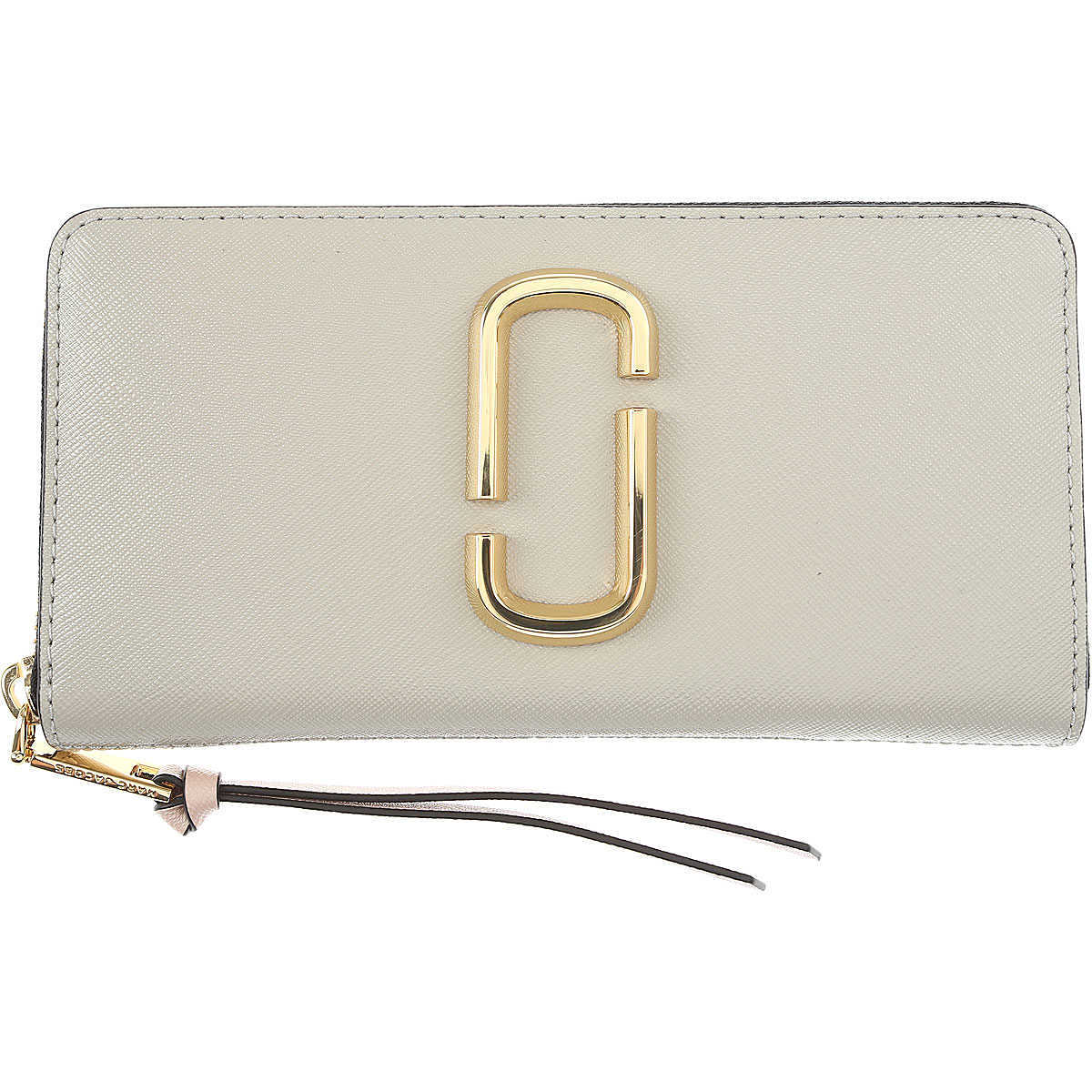 Marc Jacobs Wallet for Women On Sale Pearl Grey - GOOFASH