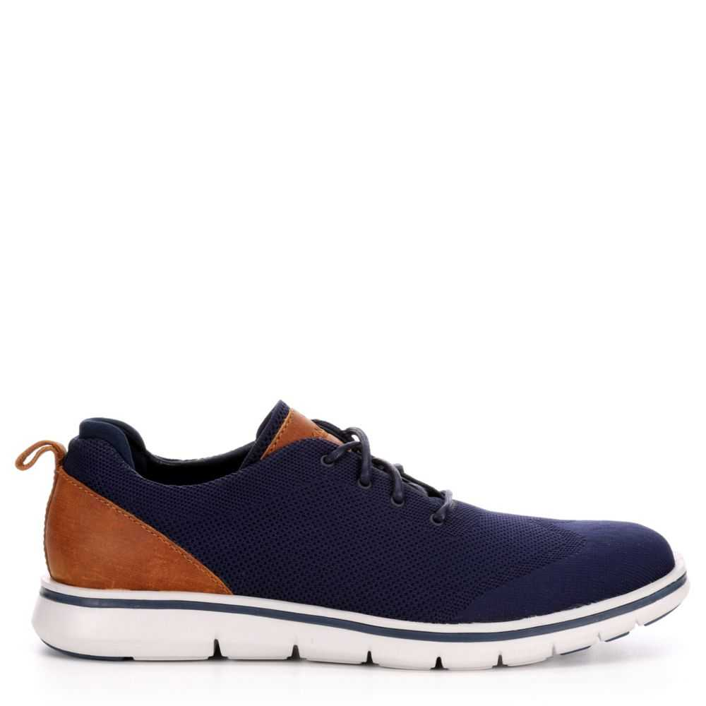Mark Nason Los Angeles Mens Articulated-Bradmooor Dress Casual Oxfords Navy USA - GOOFASH - Mens LEATHERS SHOES