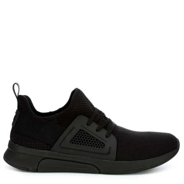 Mark Nason Los Angeles Mens Modern Jogger-Boomtown Knit Shoes Sneakers Black USA - GOOFASH - Mens TROUSERS