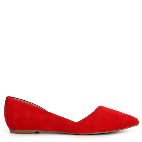 Michael By Shannon Womens Alyssa Flats Shoes Red USA - GOOFASH - Womens FLAT SHOES