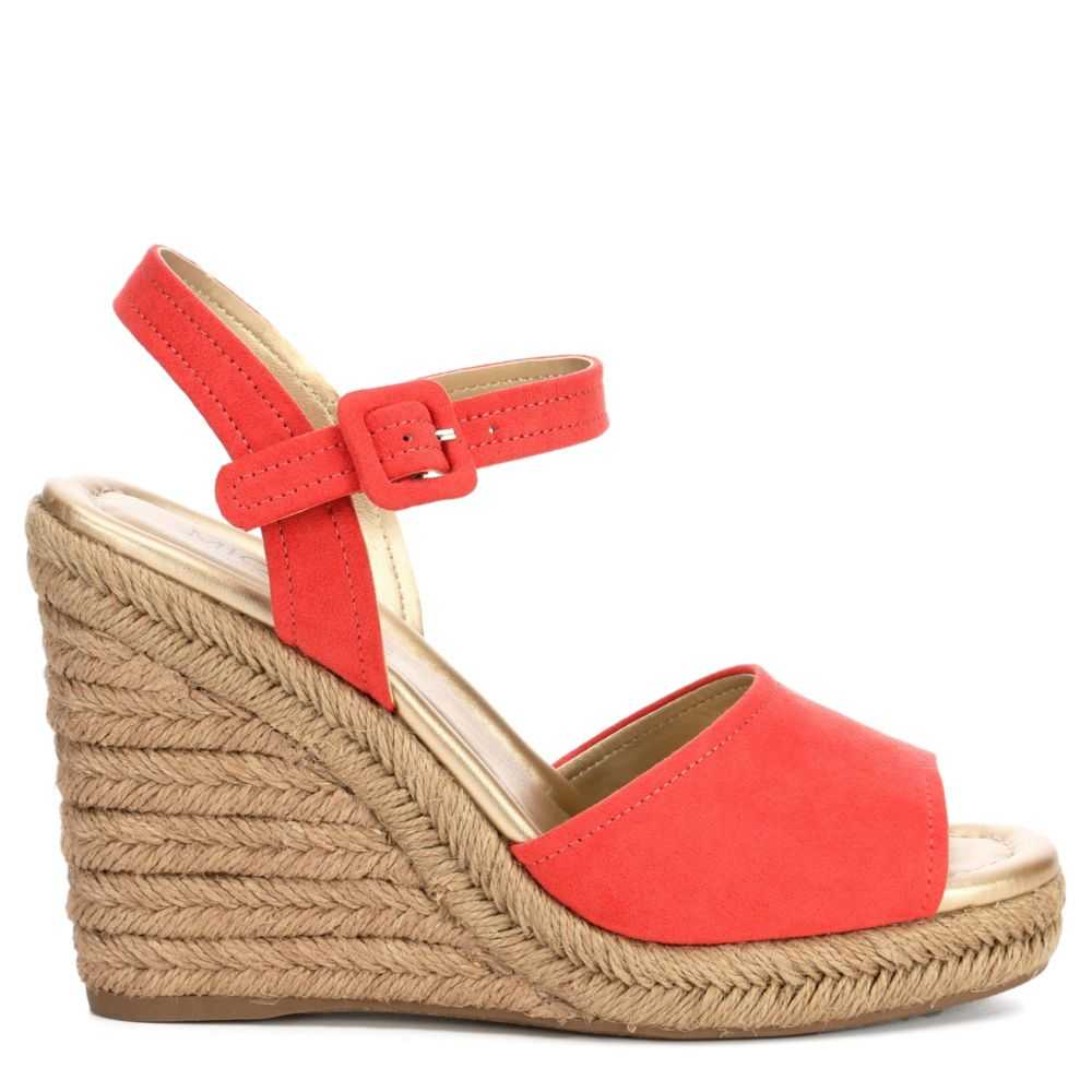 Michael By Shannon Womens Lainey Espadrille Sandals Coral USA - GOOFASH - Womens SANDALS
